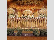 Model Kebaya Seragam Warna Emas Trend 2017 Pernikahan