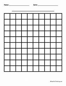 subtraction worksheets with grids 10325 10 by 10 blank graph paper by teaching tpt