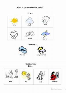worksheets what s the weather like what s the weather like today worksheet free esl
