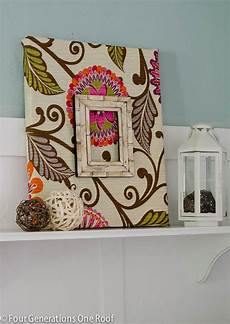 Fabric Diy Wall Tutorial Four Generations One Roof