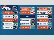 2020 nfl football weekly schedule printable