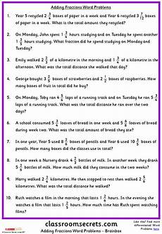 fraction word problems worksheets answers 10973 adding fractions word problems classroom secrets fraction word problems word problems