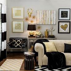 White And Gold Home Decor Ideas bring home big city style with metallic gold and black