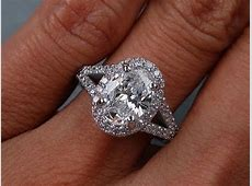 1.70 ctw Oval Cut D SI1 Diamond Engagement Ring