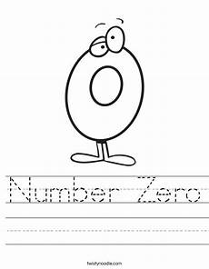 number zero worksheet twisty noodle