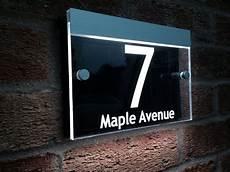 beleuchtete hausnummer led illuminated modern house signs led house number