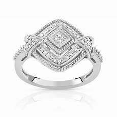 bague or 375 blanc diamant femme bague maty