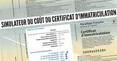 Simulateur Du Co 251 T D Une Carte Grise Prix Certificat