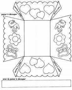 gabarit panier paques bricolages petits paniers a fabriquer