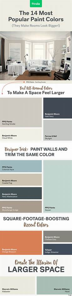 paint colors to make room bigger the 14 most popular paint colors they make a room look