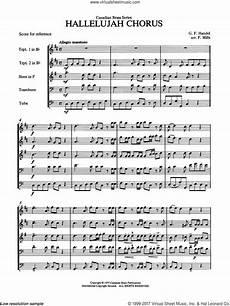 handel hallelujah chorus sheet music complete collection for brass quintet