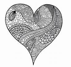 Ausmalbilder Geburtstag Herz Herz Mandalas Zum Ausmalen Und Ausdrucken Zentangle