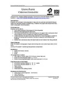 worksheets on paper chromatography 15701 using paper chromatography 9th 12th grade lesson plan lesson planet
