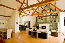 Scheune Zum Wohnhaus Sichtbare Dachsparren Moderne