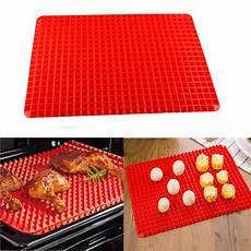 pyramid pan non stick fat reducing silicone cooking mat