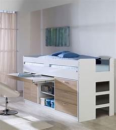 hochbetten für kleine zimmer cooles hochbett mit integriertem schreibtisch ideal f 252 r