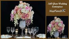 diy tall glam wedding centerpiece diy glamorous wedding diy tutorial youtube