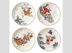 Twas the Night Before Christmas Dinner Plates, Set of 4