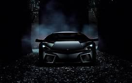 Wallpaper Lamborghini Reventon Black HD Automotive