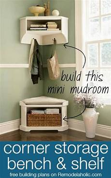 two cheerful apartments with creative storage and splashes of build a mini mudroom corner bench and shelf with storage