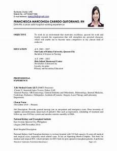 resume of quitoriano franchesca marcohssa c page 1 of 6 burdubai dubai uae mobile no