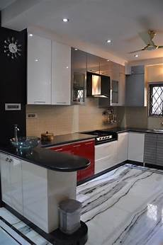 modern kitchen interior design images u shaped kitchen with modern cabinets and wall decor by