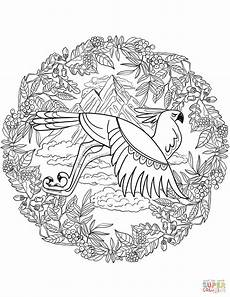 eagle mandala coloring page free printable coloring pages