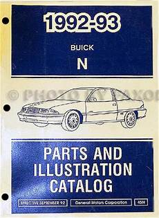 auto manual repair 1992 buick skylark spare parts catalogs 1992 93 buick skylark parts book original