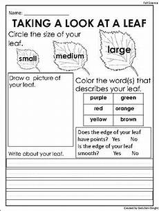 free fall leaf observation sheet science center activity freebie from endless teaching ideas