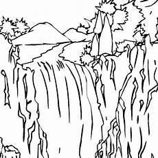 Gambar Mewarnai Pemandangan Air Terjun
