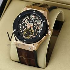 Hublot Bigbang Black Brown hublot big chronograph with rubber brown belt