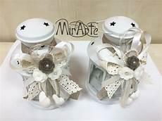come decorare candele lanterne ikea adornate in stile shabby chic fiori feltro e
