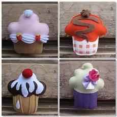 patrones hacer cupcakes de fieltro felt mu 241 ecos de fieltro figuras de fieltro y