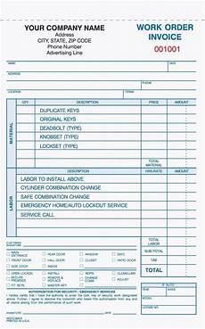 3 part work order invoice