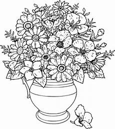 Ausmalbilder Blumenvase Beautiful Flower Vase Coloring Page Coloring Sky
