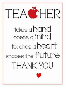 teacher gift free printable teacher appreciation