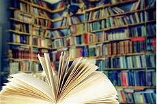 open book in a library stock image image of collection