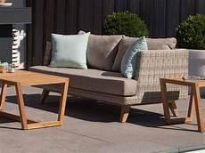 arosa lounge garten sofa 2 sitzer exotan teak poly