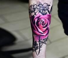 Unterarm Blume - blumen realistische am unterarm arm
