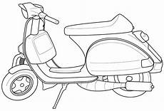 Car Coloring Sheets Yang Bagus Fantastic Vespa Coloring Sheet For Children In 2020