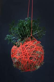 Indooroutdoor Hanging Moss Balls Filled With Plants
