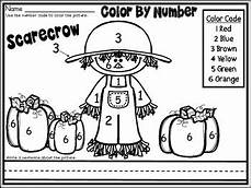 color by number fall coloring pages 18108 free fall scarecrow part of my color by number november thanksgiving unit