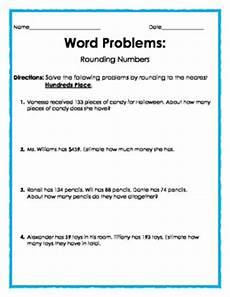 word problems with rounding decimals worksheets 7585 word problems rounding to the nearest hundreds place by the treasury