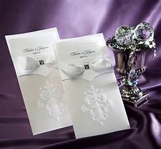 wedding invitations cards elegant ivory flowers embossed paper invites cardstock for birthday