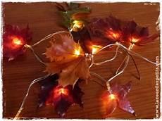 fabriquer une guirlande electrique 2 astuces pour conserver les feuilles d automne et