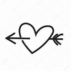 Malvorlagen Herz Mit Pfeil Minimalistische Herz Mit Pfeil Stockfoto 169 Sabelskaya