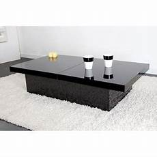 table basse noir laqu 233 table basse design pas cher