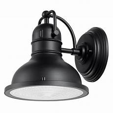 globe electric harbor 1 light black outdoor wall sconce 44157 the home depot