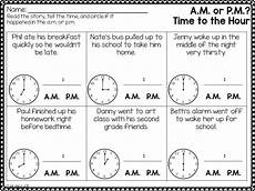 telling time worksheets using am and pm 3220 telling time and determining a m or p m math telling time math and worksheets