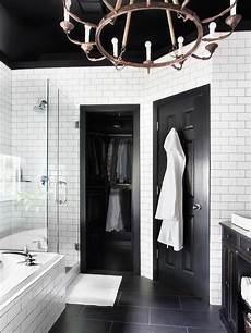 Master Bathroom Ideas Black And White by Timeless Black And White Master Bathroom Makeover